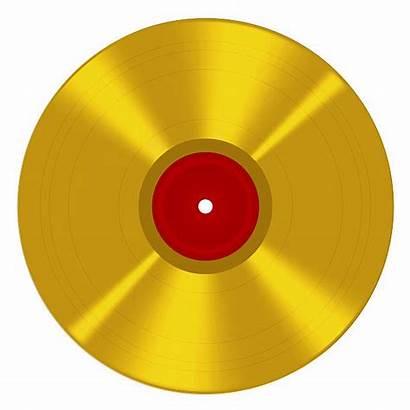 Gold Record Vector Clip Disc Illustrations Award