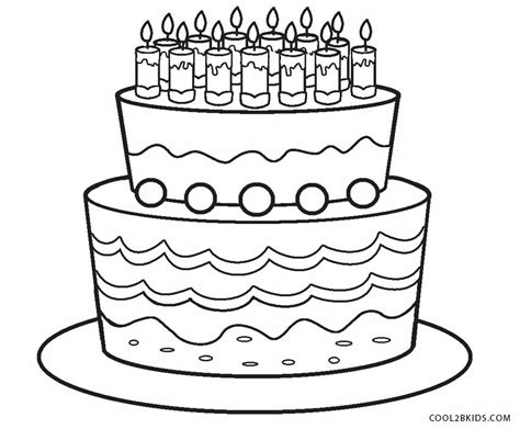 Birthday Cake Printable Coloring Pages - Eskayalitim