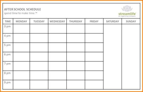 school scheduling template template business
