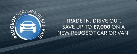 peugeot car lease scheme new peugeot scrappage scheme offers