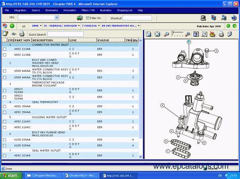 chrysler international pais spare parts catalog