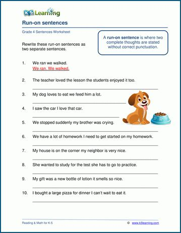 grade  grammar worksheets  learning