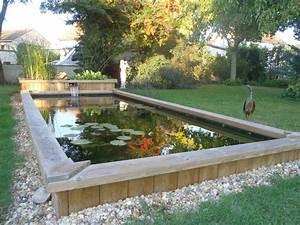 bassin poisson exterieur hors sol fashion designs With bassin en bois exterieur