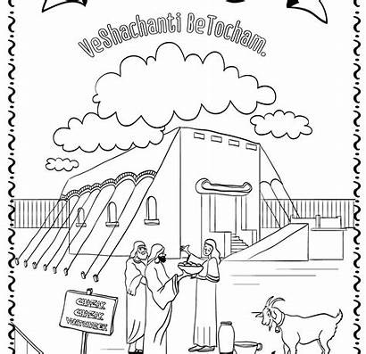 Tabernacle Coloring Pages Drawing Wilderness Bible Printable