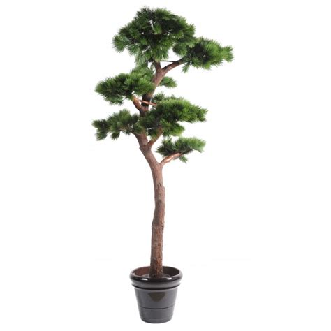 pin artificiel bonsai uv r 233 sistant de 220 cm de hauteur en pot pvc
