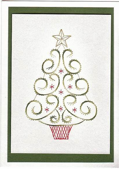 Patterns Cards Embroidery Stitch Card Stitching Tree