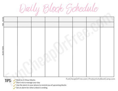 block schedule system     fun cheap