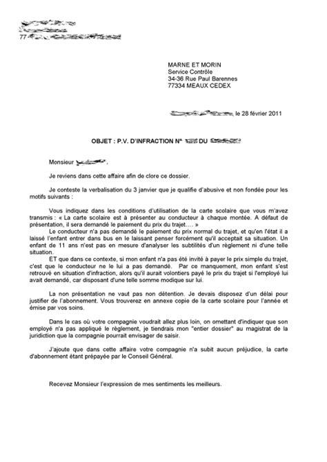 lettre type contestation amende lettre de contestation pv stationnement modele de lettre type