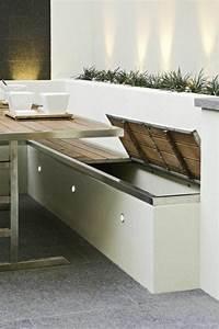 sitzbank mit stauraum fur innen oder aussen archzinenet With garten planen mit sitzbank mit stauraum für balkon