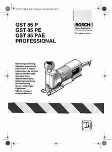 Bosch Gst 85 P Operating Instructions