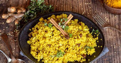 millet aux epices  fruits seches cuisine vegetale
