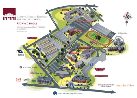 campus map albany college  pharmacy  health sciences