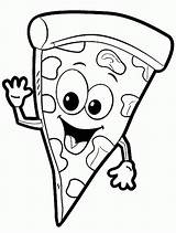 Pizza Coloring Pages Steve Printable Colouring Slice Shopkins Delicious Food Only Collection Happy Adults sketch template