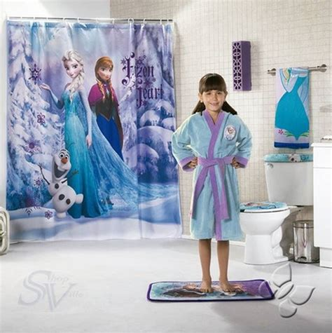Disney Frozen Bathroom Set by Disney Frozen Elsa Olaf Snow Shower Curtain New
