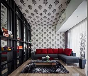 Tapete Für Decke : beispiele f r moderne deckengestaltung haus in jakarta ~ Sanjose-hotels-ca.com Haus und Dekorationen