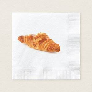 French croissant napkin, bakery pastry brioche napkin ...