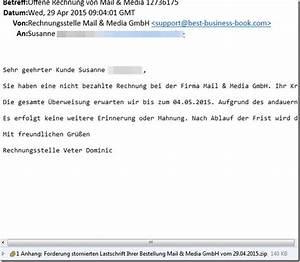 Kunde Zahlt Rechnung Nicht : trojaner warnung erneute e mail mit offene rechnung von mail media mimikama ~ Themetempest.com Abrechnung