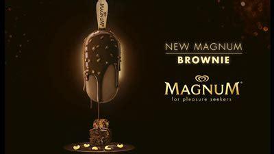 magnum celebrates indulgence    magnum brownie