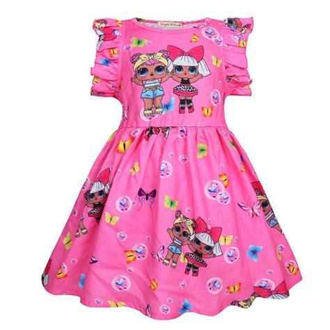 lol surprise girl ruffle dress costume cartoon birthday