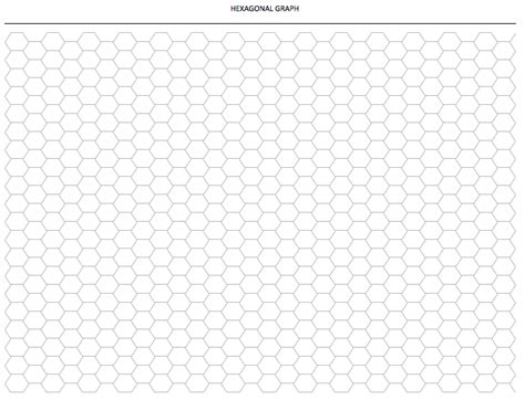 hexagonal graph paper template exceltemplatenet