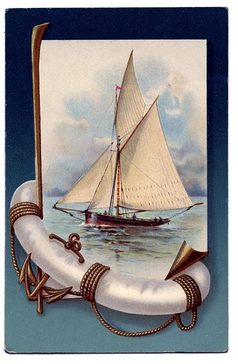 clipart photo vintage nautical clip beautiful sailboat the
