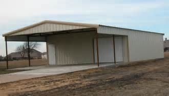 Metal Building with Awning
