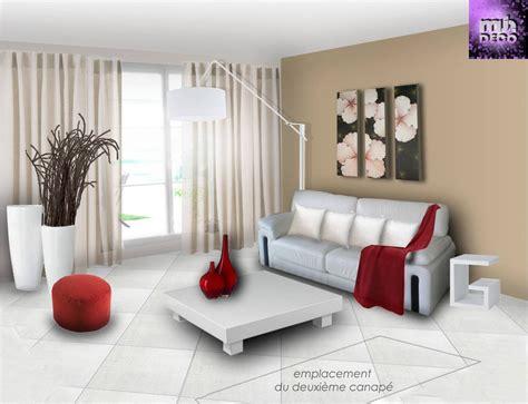 peinture salon moderne beige