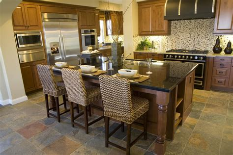 kitchen island with seating for 3 39 fabulous eat in custom kitchen designs