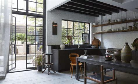 moody industrial meets vintage kitchen design digsdigs