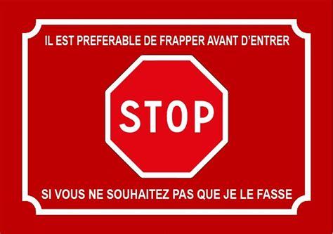panneau de chambre plaque panneau stop pfa36