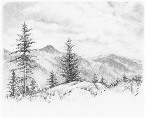 Pencil Drawing Pictures Nature