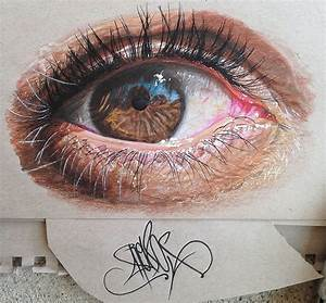 Colored pencil art – Hyper-realistic eyes by 19-year-old ...