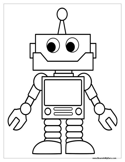 Robot Coloring Pages | Print Color Craft