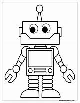 Robot Coloring Pages Robots Craft sketch template