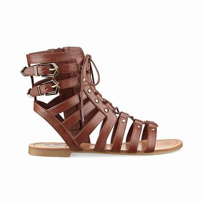 Sandals Gladiator Guess Brown Holmes Womens Shoes