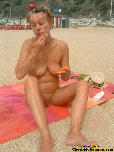 Proud Granny Openly Goes Naked In The Outdo Xxx Dessert