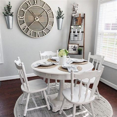 oversize gray rustic wall clock dining room wall decor