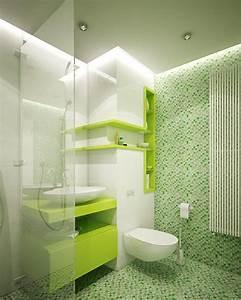 petite salle de bains avec wc 55 idees de meubles et deco With carrelage adhesif salle de bain avec spot led 12v