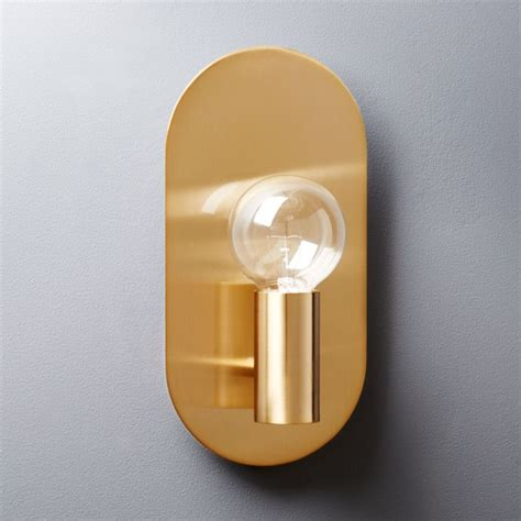 plate brass wall sconce cb2