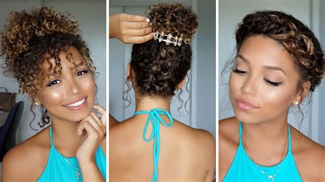 3 summer hairstyles for curly hair bloomfield youtube