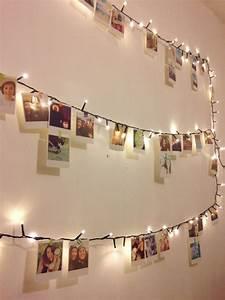 Ideen Fotos Aufhängen : deko idee mit einer lichterkette und vielen fotos hochzeit deko geburtstag und dekoration ~ Yasmunasinghe.com Haus und Dekorationen