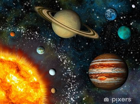 realistic solar system display   sun