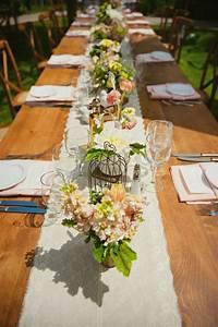 Chemin De Table Design : d coration mariage champ tre 50 id es originales ~ Teatrodelosmanantiales.com Idées de Décoration