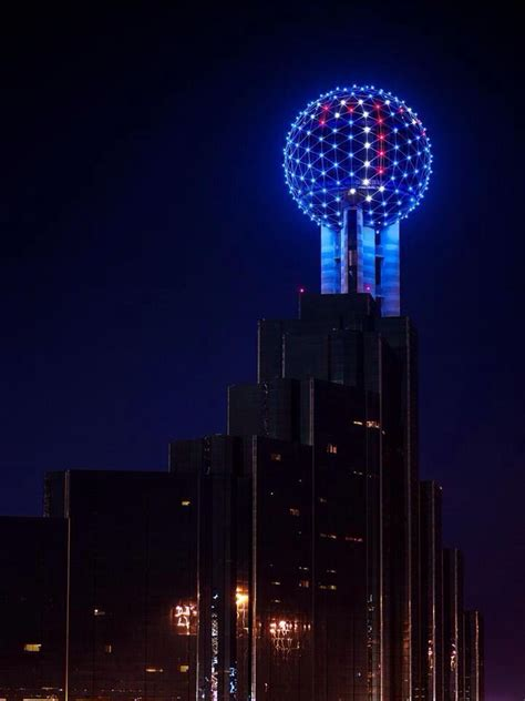 Reunion Tower Observation Deck Height by 1000 Images About Dallas Skyline On Reunions