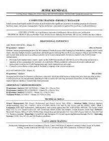 professional resume for computer programmer