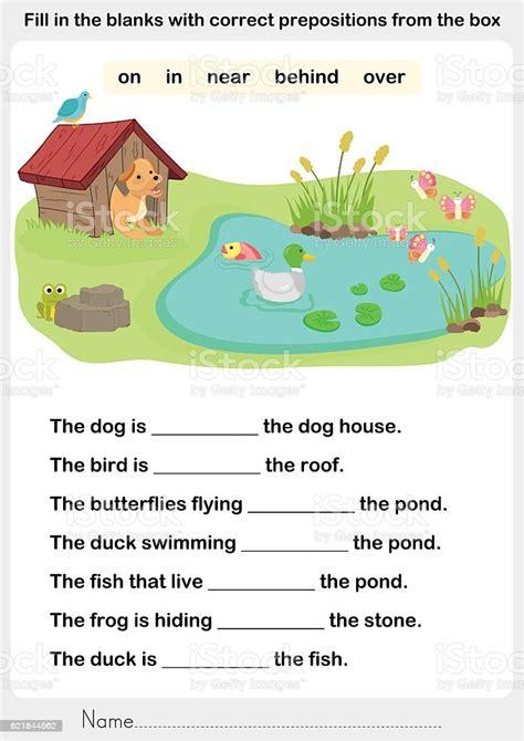 fill   blanks  correct prepositions stock