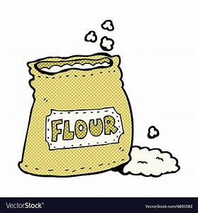 Comic cartoon bag of flour Royalty Free Vector Image