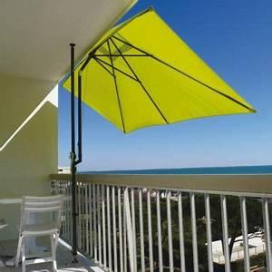 Parasol De Terrasse : parasol de balcon 300 x 150 cm anis castorama ~ Teatrodelosmanantiales.com Idées de Décoration