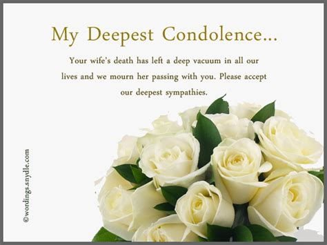 sympathy message sympathy messages for loss of a wife wordings and messages