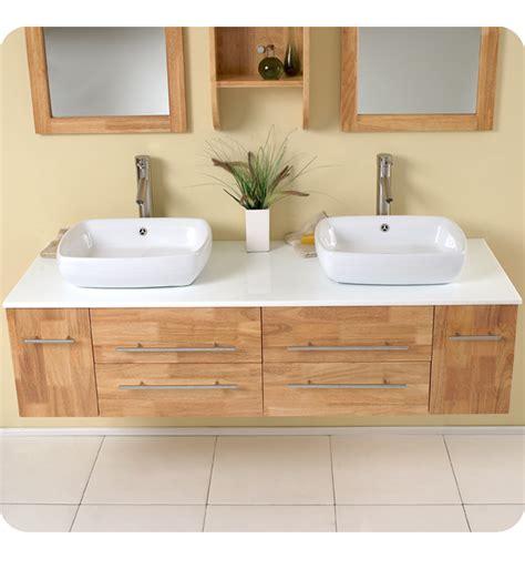 sink cabinet kitchen fresca bellezza wood modern vessel sink 2251